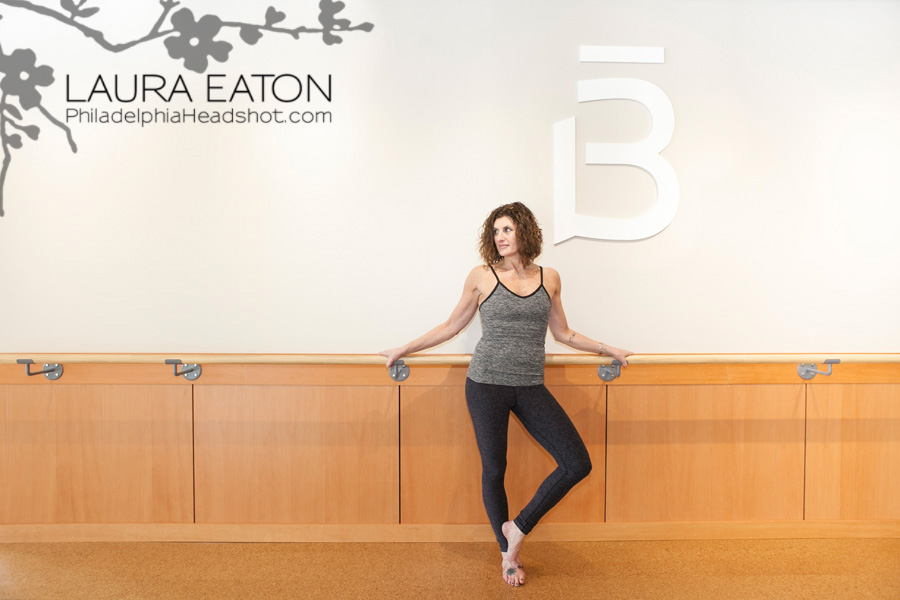 Philadelphia headshot photographer fitness model studio barre 3 rosemont on location photography Laura Eaton