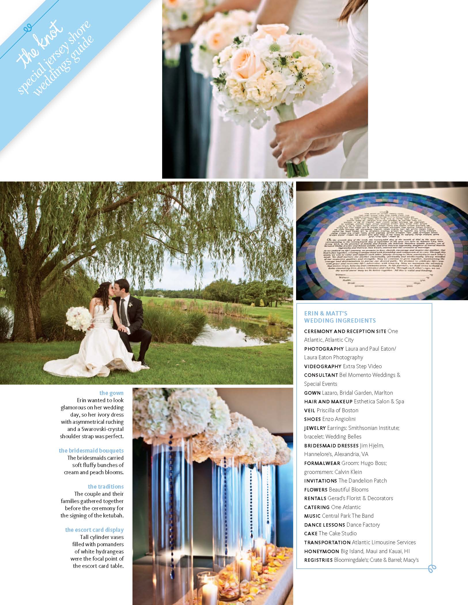 Erin and Matt's One Atlantic Wedding Photography in The Knot Magazine