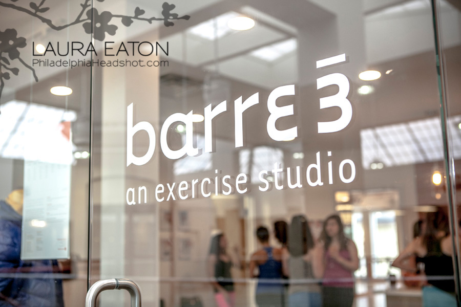 Philadelphia headshot photographer fitness model studio barre 3 rosemont on location photography Laura Eaton Barre Location